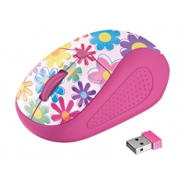 Mouse Trust Wireless Primo Pink Flowers