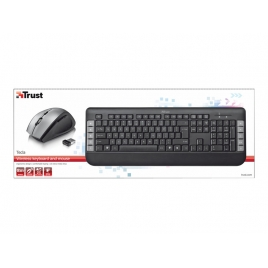 Teclado + Mouse Trust Wireless Tecla Black