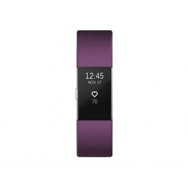 Pulsera Deportiva Fitbit Charge 2 S Plum Silver