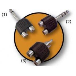 Adaptador Kablex RCA Macho / 2X RCA Hembra