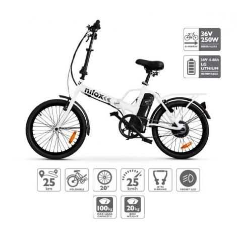 Bicicleta Electrica Nilox DOC Ebike X1 White