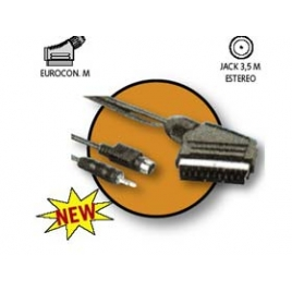 Cable Kablex Euroconector Macho / Jack 3.5MM + Svhs