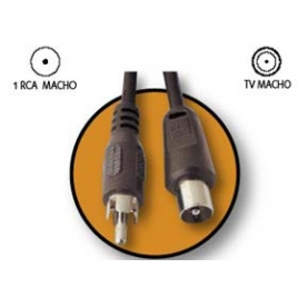 Cable Kablex RCA Macho / Conector TV Macho 1.5M