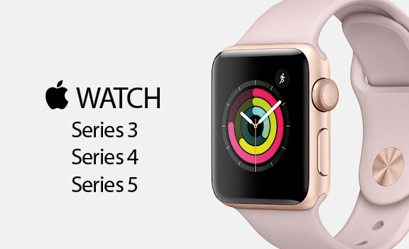 Apple Watch Serie 3, Serie 4  y Serie 5